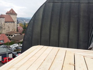 Vue sur château d'Annecy