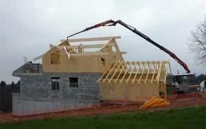 maison panneaux bois