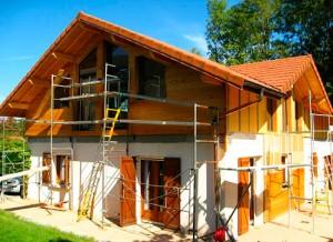 Maison avec surélévation ossature bois